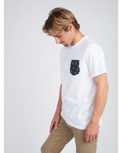 2 All Day Printed Pocket T-Shirt Blanc L1JE02BIF8 Billabong