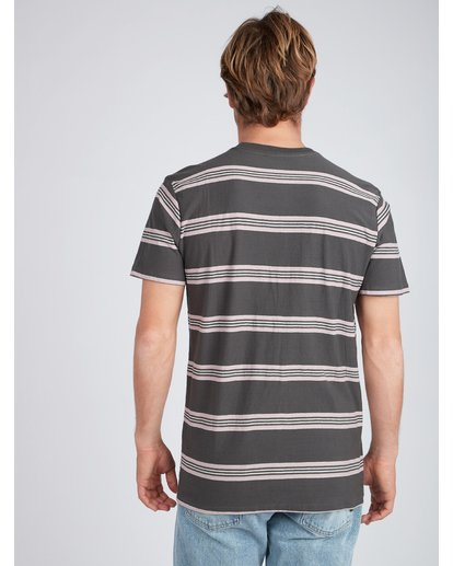 4 Die Cut Yarn Dye Stripe T-Shirt Negro L1JE03BIF8 Billabong