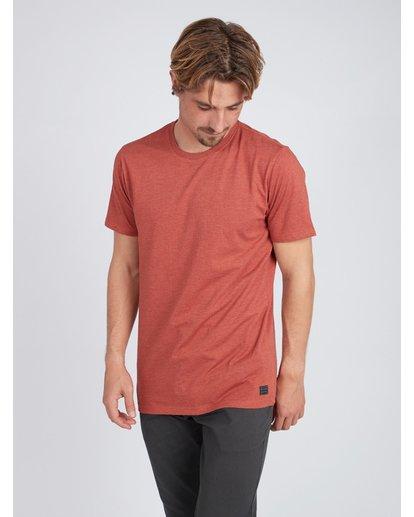 3 All Day Crew T-Shirt Rouge L1JE05BIF8 Billabong