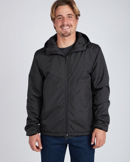 6 Transport Dwr Warm Windbreaker Black L1JK03BIF8 Billabong