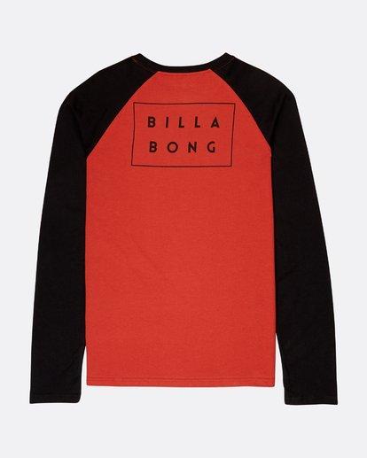 1 Die Cut Long Sleeve T-Shirt Rouge L1LS02BIF8 Billabong