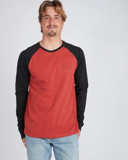 4 Die Cut Long Sleeve T-Shirt Rouge L1LS02BIF8 Billabong