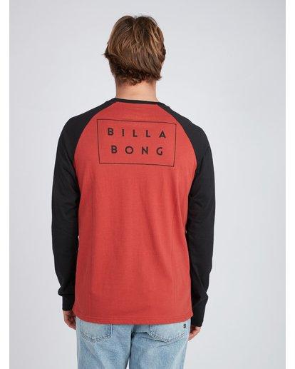 6 Die Cut Long Sleeve T-Shirt Rouge L1LS02BIF8 Billabong