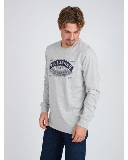 3 Guardiant Long Sleeve T-Shirt Gris L1LS04BIF8 Billabong