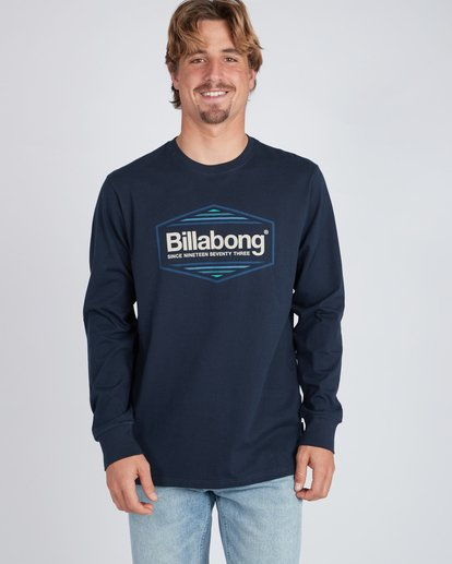 2 Pacific Long Sleeve T-Shirt Blue L1LS06BIF8 Billabong