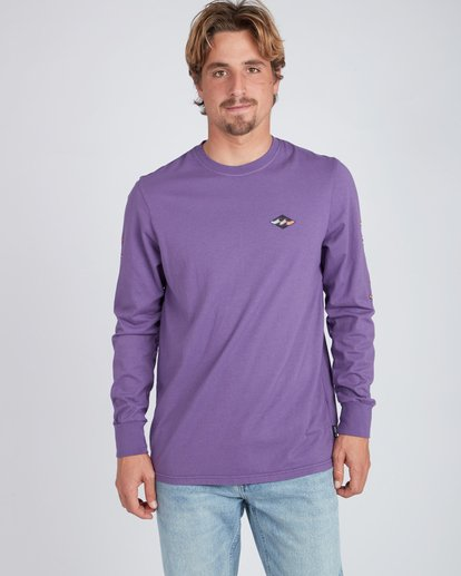 3 Heritage Long Sleeve T-Shirt Violet L1LS08BIF8 Billabong