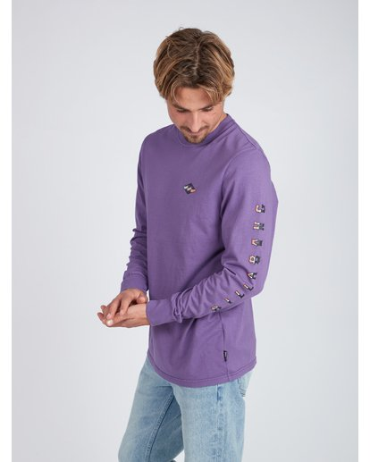 4 Heritage Long Sleeve T-Shirt Violet L1LS08BIF8 Billabong