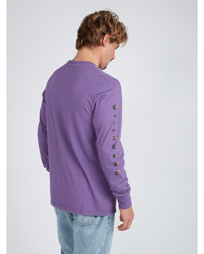 6 Heritage Long Sleeve T-Shirt Violet L1LS08BIF8 Billabong