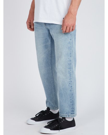3 Fifty Cropped Straight Fit Jeans Bleu L1PN03BIF8 Billabong
