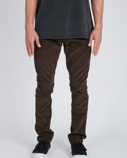 5 Outsider Corduroy Slim Fit Pants Marron L1PT02BIF8 Billabong
