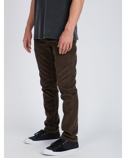 6 Outsider Corduroy Slim Fit Pants Marron L1PT02BIF8 Billabong