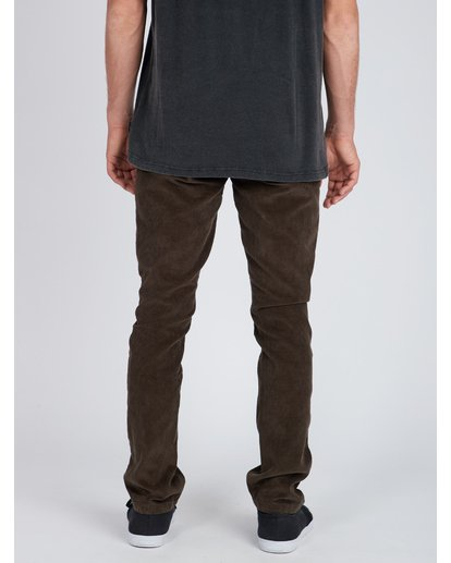 7 Outsider Corduroy Slim Fit Pants Marron L1PT02BIF8 Billabong