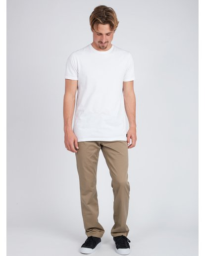 6 Fifty Work Wear Twill Pants Vert L1PT05BIF8 Billabong