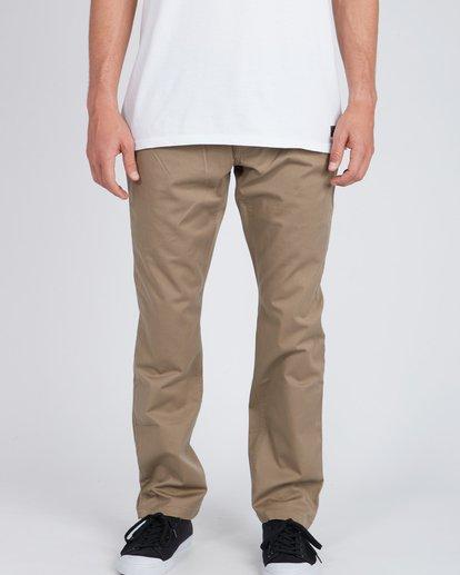 2 Fifty Work Wear Twill Pants Vert L1PT05BIF8 Billabong