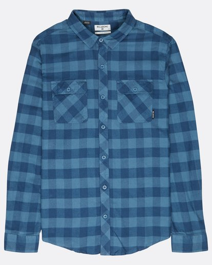 0 All Day Flannel Long Sleeve Shirt Blue L1SH01BIF8 Billabong