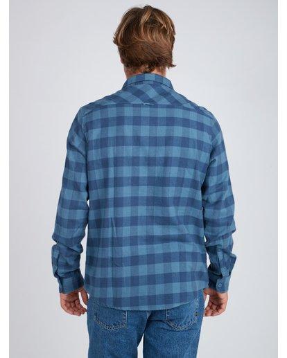 3 All Day Flannel Long Sleeve Shirt Blue L1SH01BIF8 Billabong