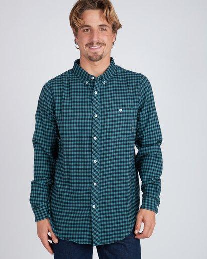 4 Doyle Flannel Long Sleeve Shirt Noir L1SH02BIF8 Billabong