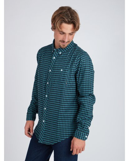 5 Doyle Flannel Long Sleeve Shirt Noir L1SH02BIF8 Billabong