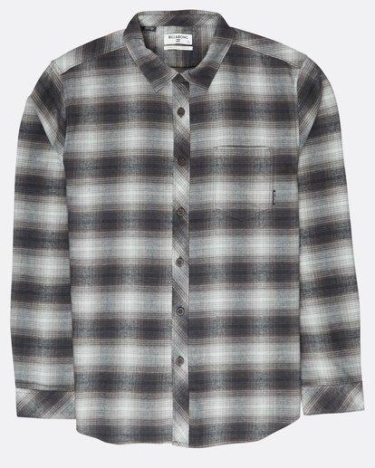 0 Coastline Flannel Shirt Noir L1SH04BIF8 Billabong
