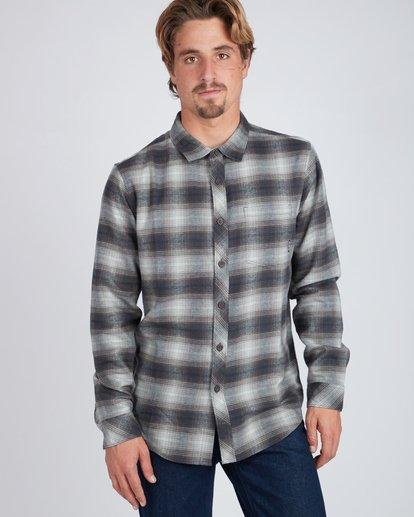 4 Coastline Flannel Shirt Noir L1SH04BIF8 Billabong