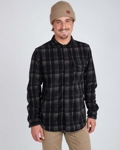 1 Furnace Dwr Flannel Shirt Noir L1SH05BIF8 Billabong