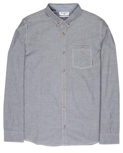 0 All Day Chambray Long Sleeve Shirt Gris L1SH09BIF8 Billabong