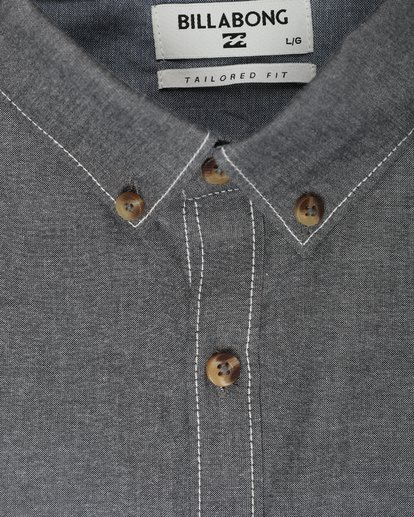 1 All Day Chambray Long Sleeve Shirt Gris L1SH09BIF8 Billabong