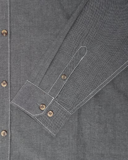 3 All Day Chambray Long Sleeve Shirt Gris L1SH09BIF8 Billabong
