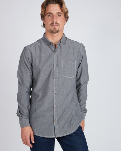 5 All Day Chambray Long Sleeve Shirt Gris L1SH09BIF8 Billabong