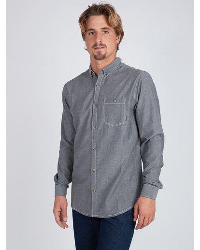 6 All Day Chambray Long Sleeve Shirt Gris L1SH09BIF8 Billabong