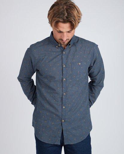 4 All Day Jaquard Long Sleeve Shirt Bleu L1SH10BIF8 Billabong