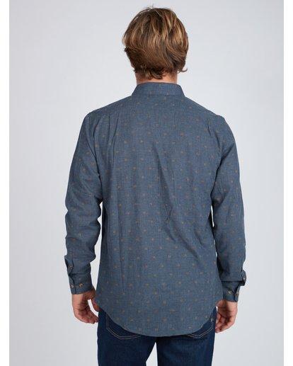 6 All Day Jaquard Long Sleeve Shirt Bleu L1SH10BIF8 Billabong