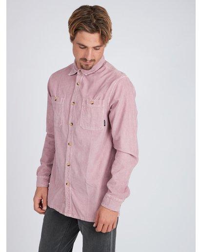 3 Wave Washed Corduroy Shirt Pink L1SH11BIF8 Billabong