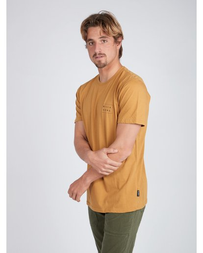 3 Die Cut T-Shirt Gelb L1SS02BIF8 Billabong