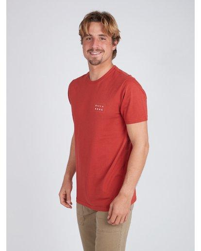 3 Die Cut T-Shirt Red L1SS02BIF8 Billabong