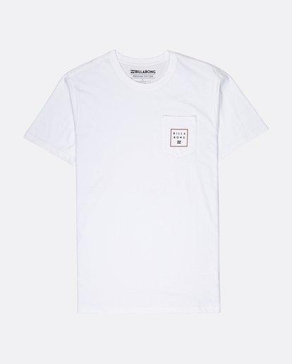 0 Stacked T-Shirt Blanc L1SS03BIF8 Billabong