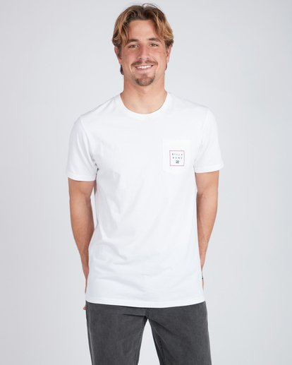 3 Stacked T-Shirt Blanc L1SS03BIF8 Billabong