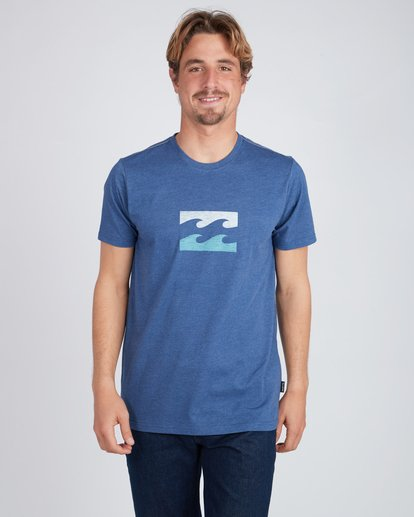 3 Wave T-Shirt Azul L1SS06BIF8 Billabong