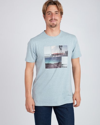 1 The Road T-Shirt Blue L1SS13BIF8 Billabong