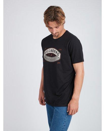 3 Guardiant T-Shirt Negro L1SS16BIF8 Billabong