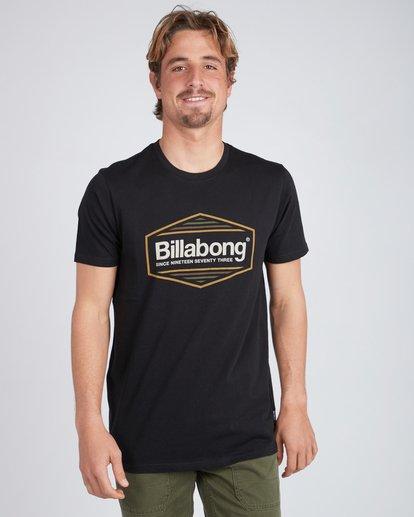 2 Pacific T-Shirt Schwarz L1SS21BIF8 Billabong