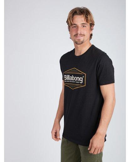 3 Pacific T-Shirt Schwarz L1SS21BIF8 Billabong
