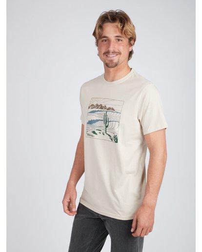 2 Deserted T-Shirt Beige L1SS30BIF8 Billabong