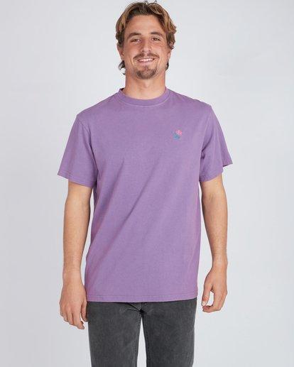 2 Quiet Riot T-Shirt Purple L1SS34BIF8 Billabong
