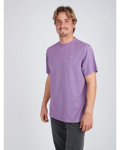 3 Quiet Riot T-Shirt Purple L1SS34BIF8 Billabong