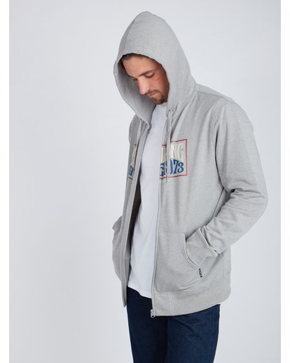 4 Wave Daze Zip Hoodie Gris L1ZH01BIF8 Billabong