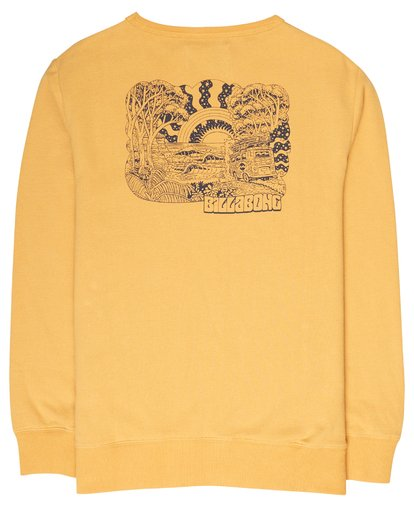 3 Boys Hippy Ride Sweatshirt Jaune L2CR03BIF8 Billabong