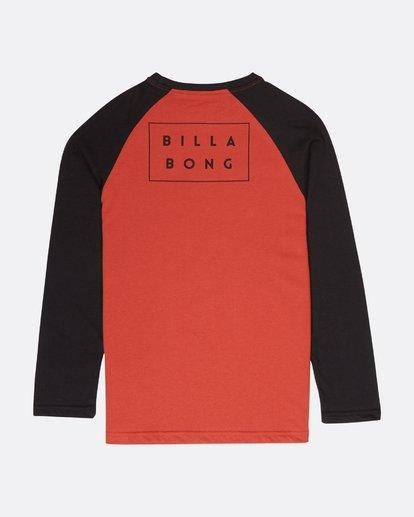 1 Boys Die Cut T-Shirt Rojo L2LS01BIF8 Billabong