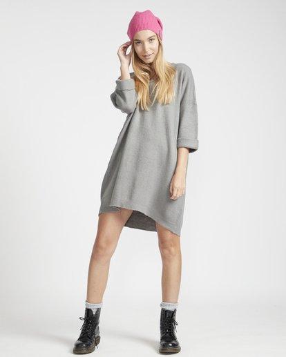 1 Holly Fire Comfy Knitted Dress Gris L3DR12BIF8 Billabong