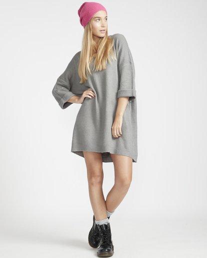 2 Holly Fire Comfy Knitted Dress Gris L3DR12BIF8 Billabong